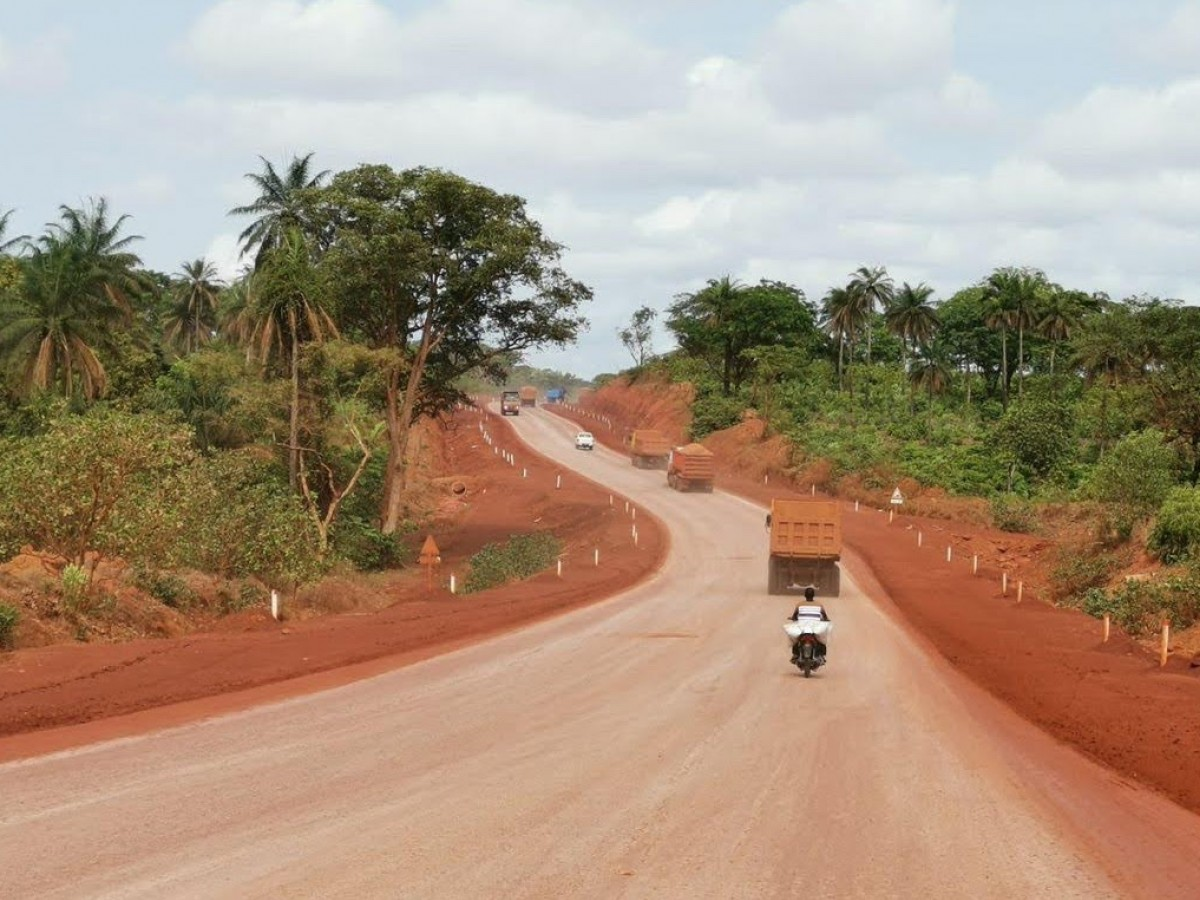 A made-in-Manitoba product with a global impact - Dust Stop has been used on roads in countries across nearly every continent including on this road in Guinea, West Africa.