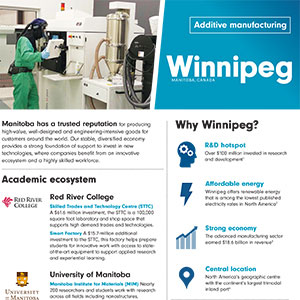 Additive Manufacturing: Invest in Winnipeg